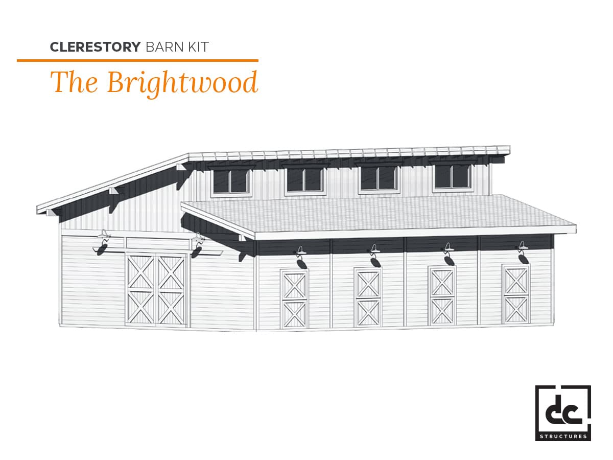 DC Structures Brightwood Category Clerestory Barn Kit