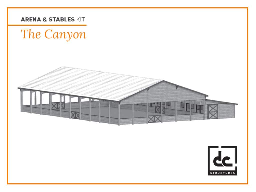 DC Structures Canyon Category Arena & Stables Barn Kit