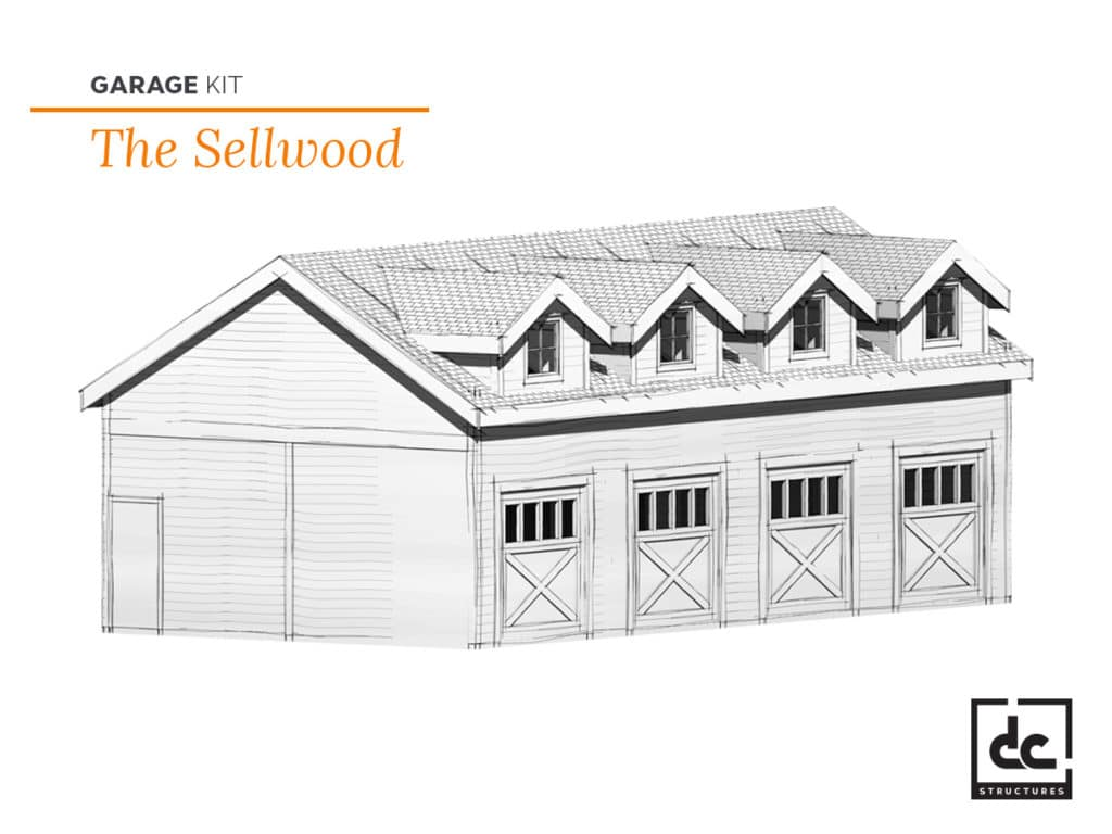 DC Structures Sellwood Category Garage Barn Kit