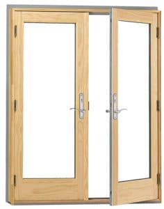 Anderson 400 French Patio Doors With Wood Accent