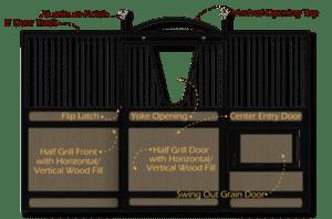 DC Structures Classic Equine Legend Stall Front Door