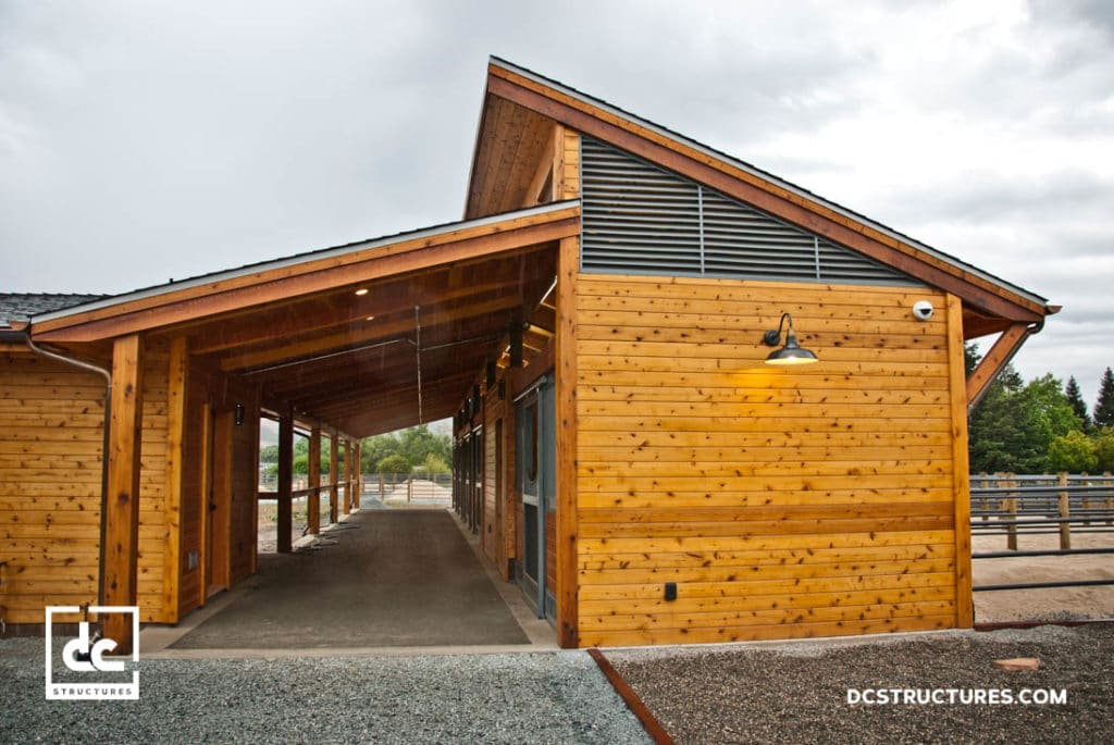 California horse barn kits dc structures for 4 horse barn